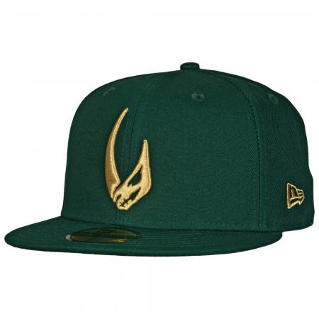 Star Wars Mandalorian Mudhorn Sigil Green New Era 59Fifty Fitted Hat