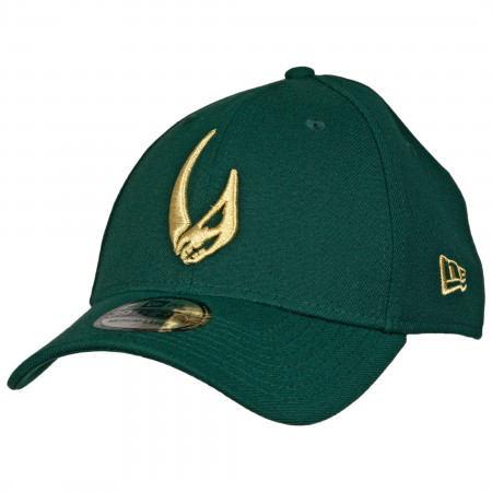 Star Wars Mandalorian Mudhorn Sigil Green New Era 39Thirty Flex Fitted Hat