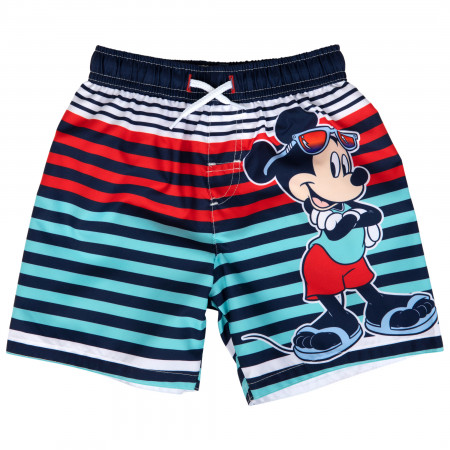 Mickey Mouse Summer Time Toddler Swim Trunks