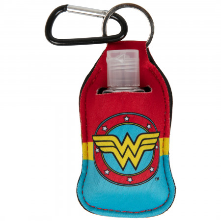 Wonder Woman Circle Symbol Quick Clip Hand Sanitizer
