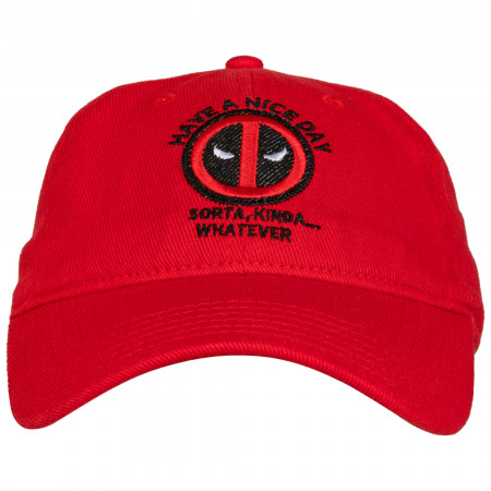 """Deadpool """"Have A Nice Day"""" Dad Hat"""
