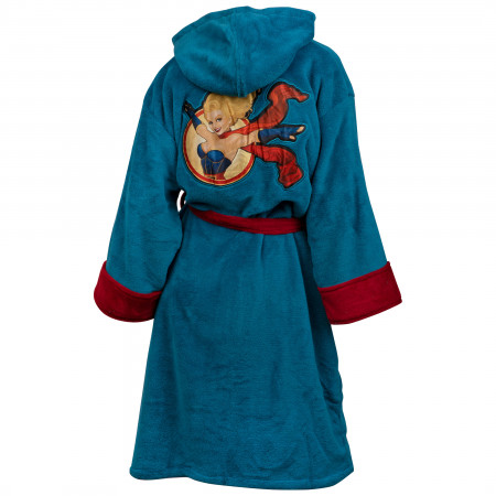 DC Comics Supergirl Bombshell Fleece Bathrobe