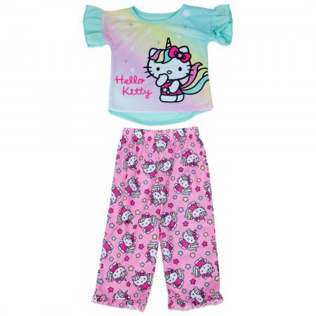 Hello Kitty Unicorn All Over Print 2-Piece Pajama Set