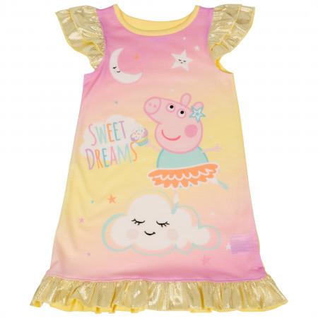 Peppa Pig Sweet Dreams Toddler Pajama Night Gown