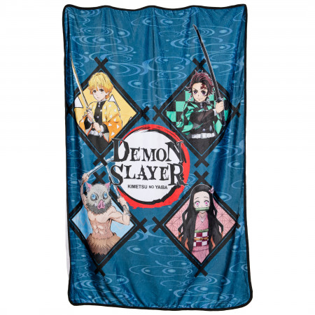 Demon Slayer Characters Fleece Throw Blanket