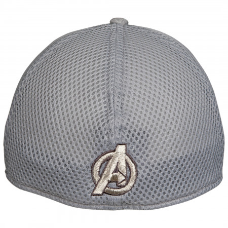 Avengers A Symbol Grey Shadow Tech New Era 39Thirty Fitted Hat