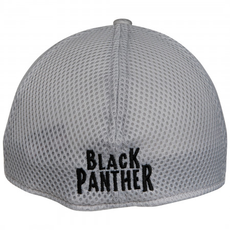 Black Panther Symbol Grey Shadow Tech New Era 39Thirty Fitted Hat