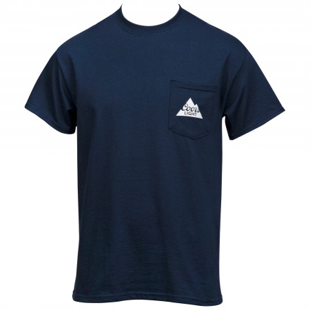 Coors Light Front and Back Logo Pocket Tee