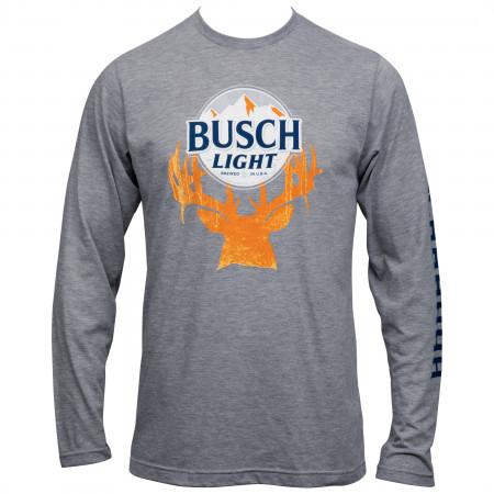 Busch Light Deer Horn Hunter Long Sleeve Shirt