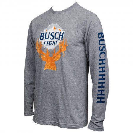 Busch Light Deer Horn Hunter Long Sleeve Shirt