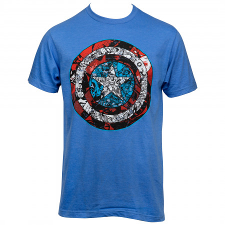 Captain America Shield Comic Images T-shirt