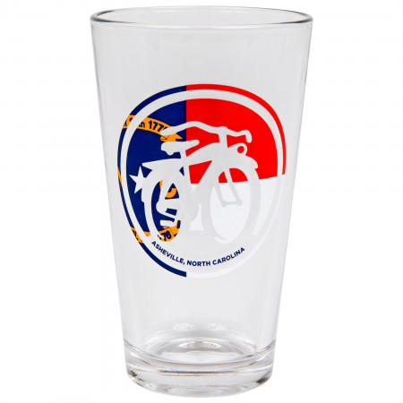 New Belgium Flag Logo Pint Glass