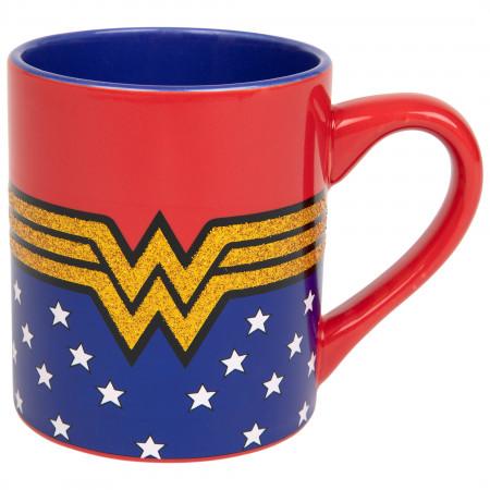 Wonder Woman Classic Symbol 14 Ounce Ceramic Mug