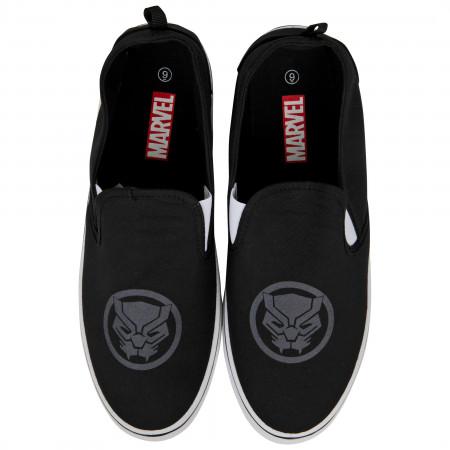 Marvel Black Panther Symbol Slip-On Shoes