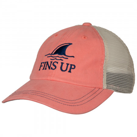 Landshark Fins Up Salmon Colorway Adjustable Hat