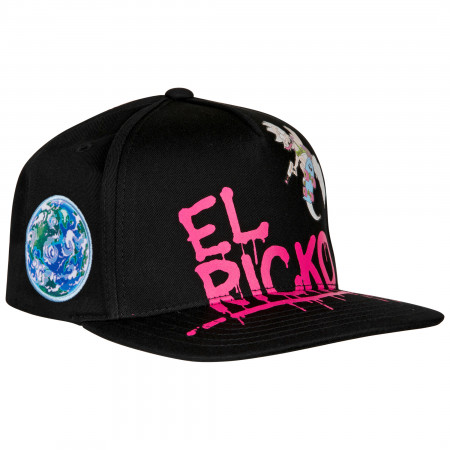 Rick And Morty Sublimated With 3D Emblem Flatbill Snapback Hat