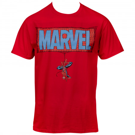 Marvel Comics Text Brand Spider-man Themed T-shirt