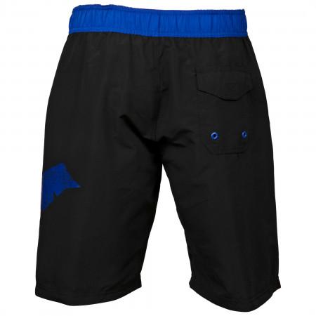 Nightwing Symbol Heather Black Board Shorts