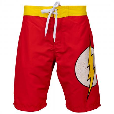 Flash Symbol Heather Red Board Shorts