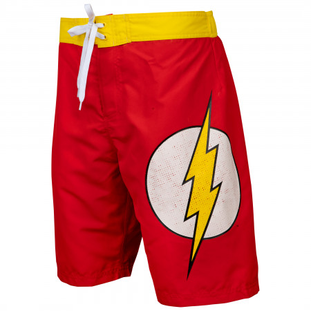 Flash Symbol Heather Red Board Shorts