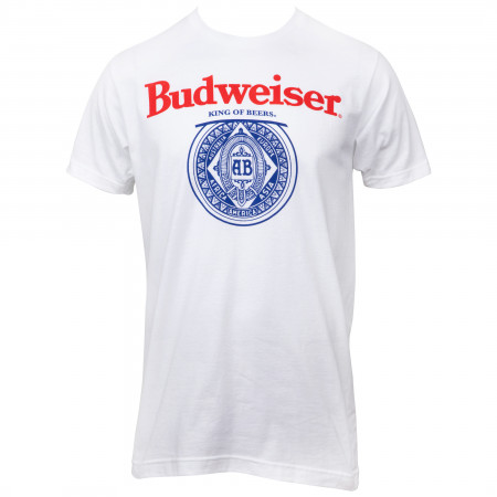 Budweiser King of Beers Front and Back Print T-Shirt