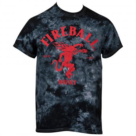 Fireball Whisky Logo Tie Dye T-Shirt
