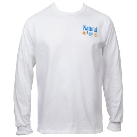 Natural Light Long Sleeve Front and Back Print Shirt