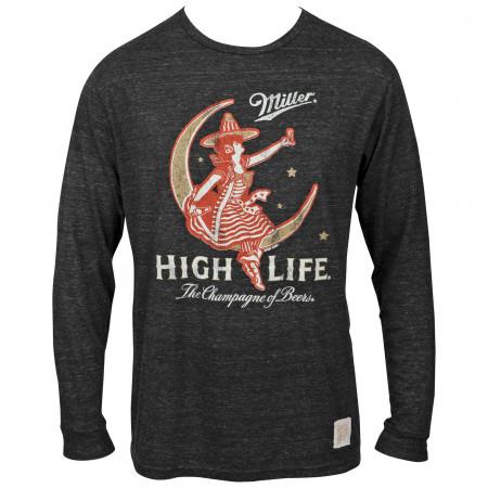 Miller High Life Girl In The Moon Long Sleeve Shirt