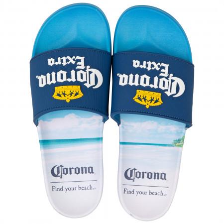 Corona Extra Logo Beach Sandal Slides