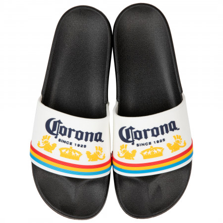 Corona Extra Logo Black Sandal Slides