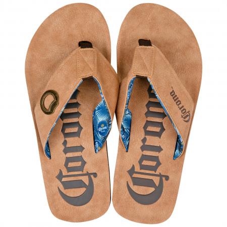 Corona Extra Bottle Opener Flip Flop Sandals