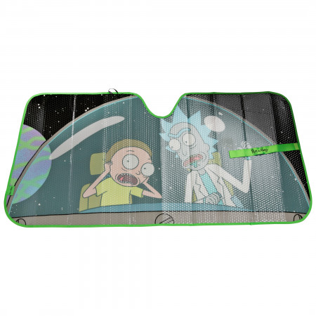 Rick and Morty Cockpit Accordion Car Sunshade