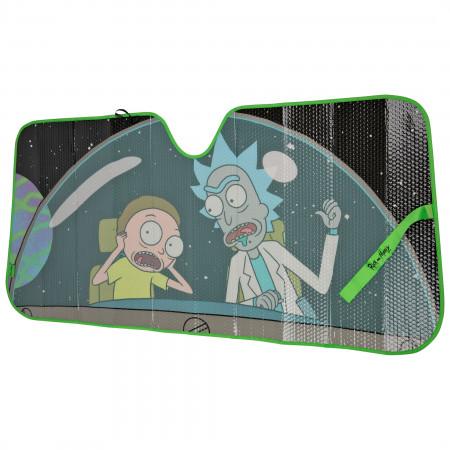 Rick and Morty Cockpit Accordion Car Sunshade