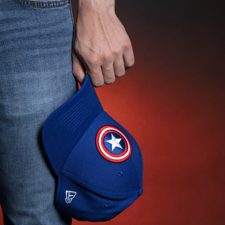 Captain America Shield Symbol Royal Blue New Era 39Thirty Fitted Hat