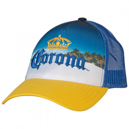 Corona 3D Emblem Sublimated Trucker Hat
