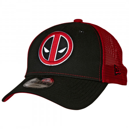 Deadpool Symbol Trucker New Era 9Forty Adjustable Hat