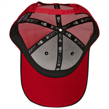 Deadpool Symbol Trucker New Era 9Forty Adjustable Hat
