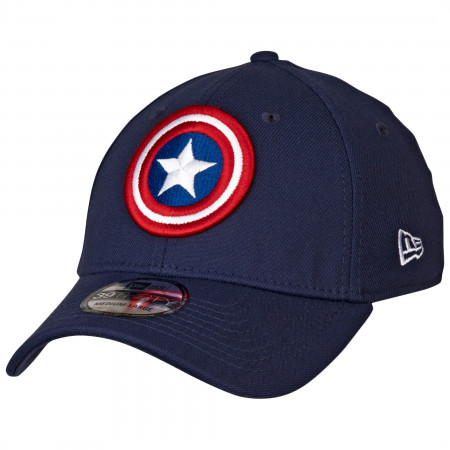 Captain America Shield Symbol Color Block New Era 39Thirty Fitted Hat