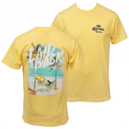 Corona Extra Laid Back Front and Back Print T-Shirt