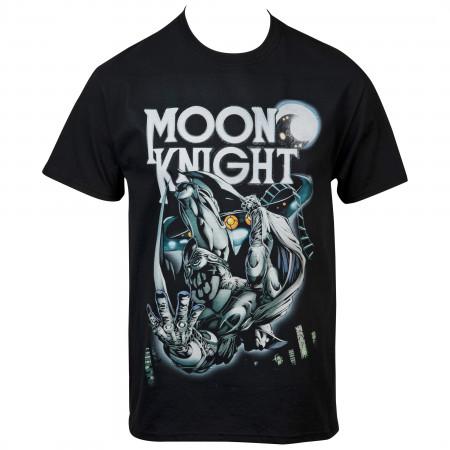 Marvel Moon Knight Cityscape Dive T-Shirt