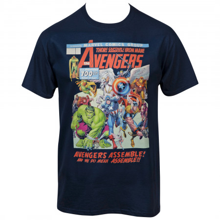 The Avengers The Mightiest 100th Issue Comic Cover T-Shirt