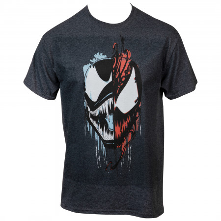 Marvel Comics Venom and Carnage Split Face T-Shirt