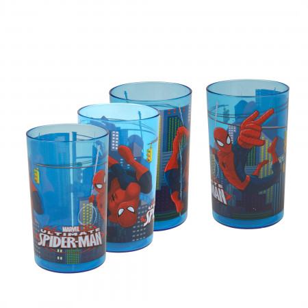 Spider-Man Character Swinging 9oz Tumbler 4-Pack