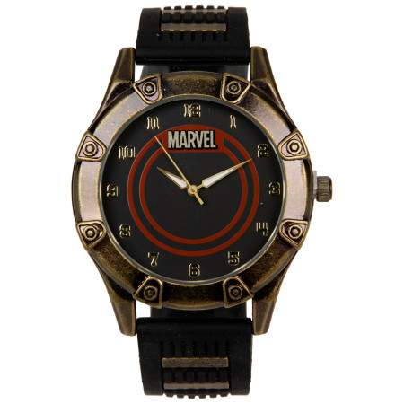 Marvel Logo Watch with Silicone Band