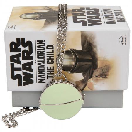 Star Wars The Mandalorian Grogu Metal Pocket Watch
