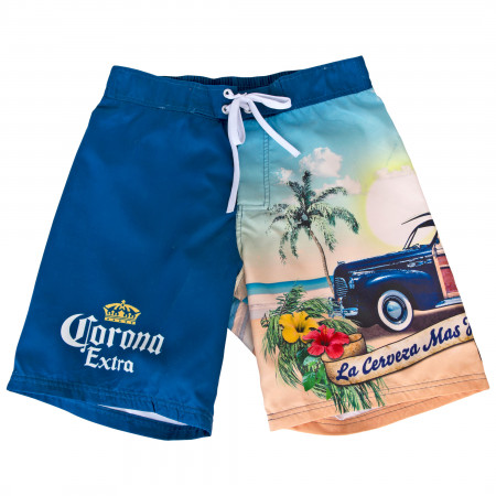 Corona Extra Crown Symbol and Beach Swimsuit