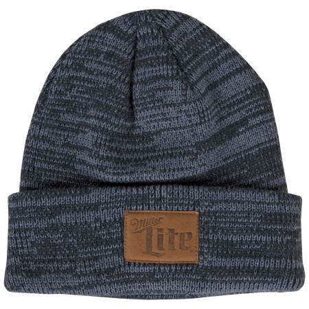 Miller Lite Patch Heather Black Cuffed Beanie