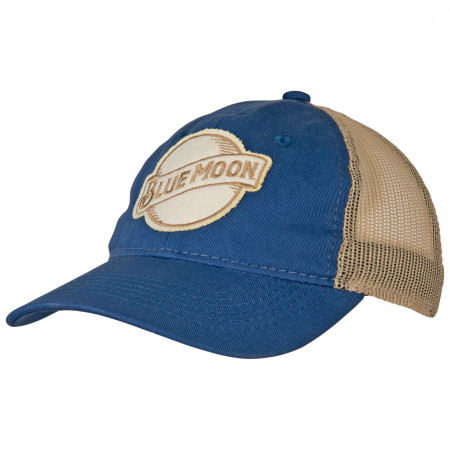 Blue Moon Logo Trucker Mesh Snapback Hat