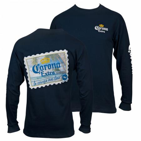 Corona Extra Stamp Back Long Sleeve T-Shirt