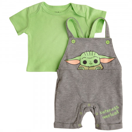 Star Wars The Mandalorian Grogu Cuteness Overload Shortall Set